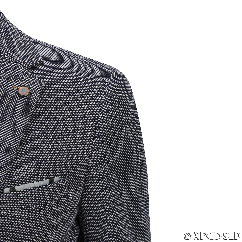 Men-s-Slim-Fit-Smart-Casual-Blue-White-Designer-Vintage-Tailored-Blazer-Jacket