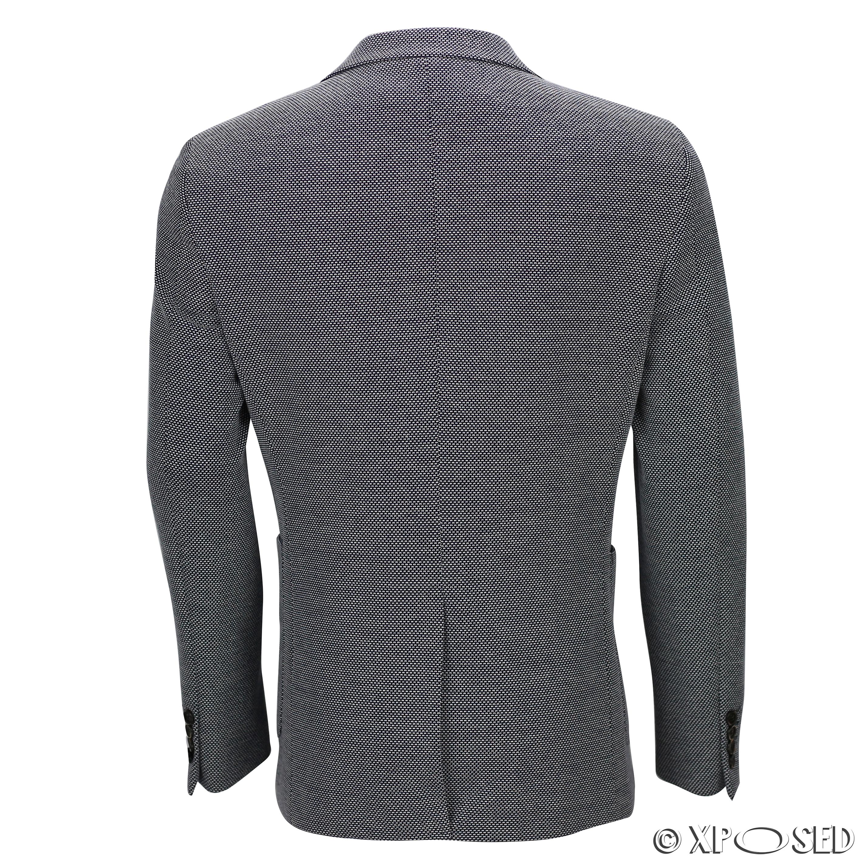 Men-039-s-slim-smart-casual-bleu-blanc-designer-vintage-tailleur-blazer-jacket