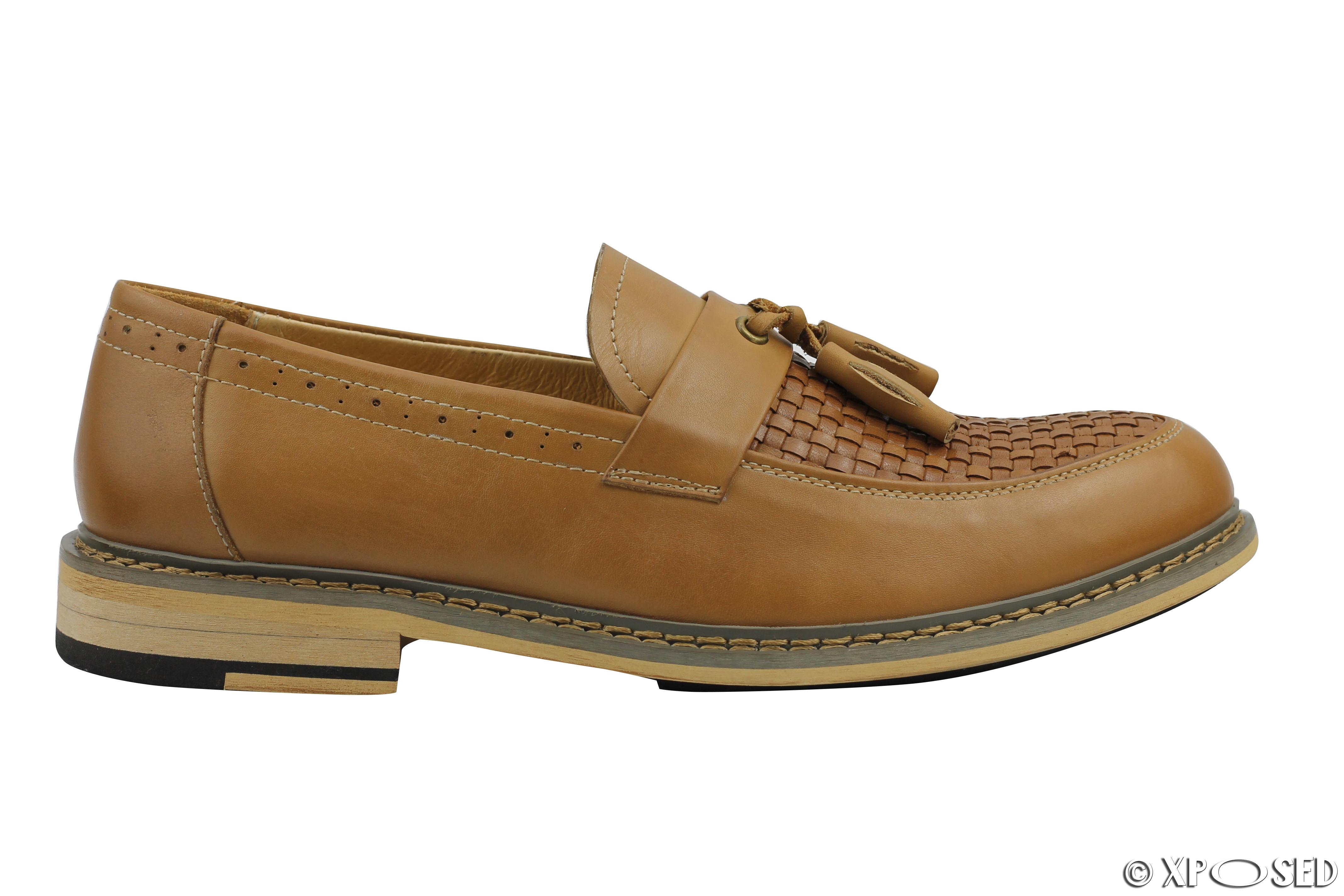 8218c67e403 ylw6888zong44 SUNROLAN Santa De Lo Men s Designer Tassel. Mens Black Tan  Woven Real Leather Tassel Loafers Smart MOD