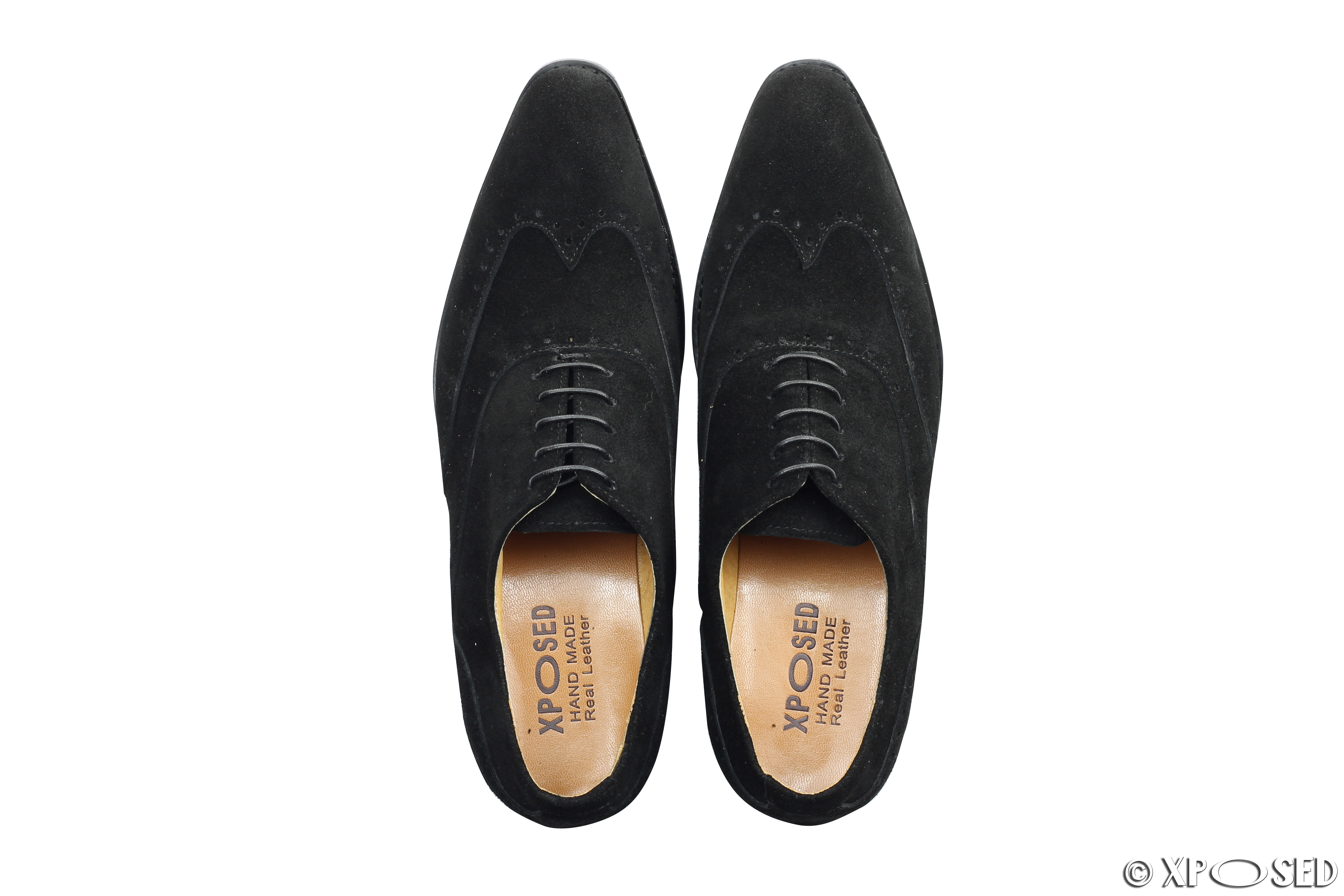 new mens black brown suede real leather smart oxford lace