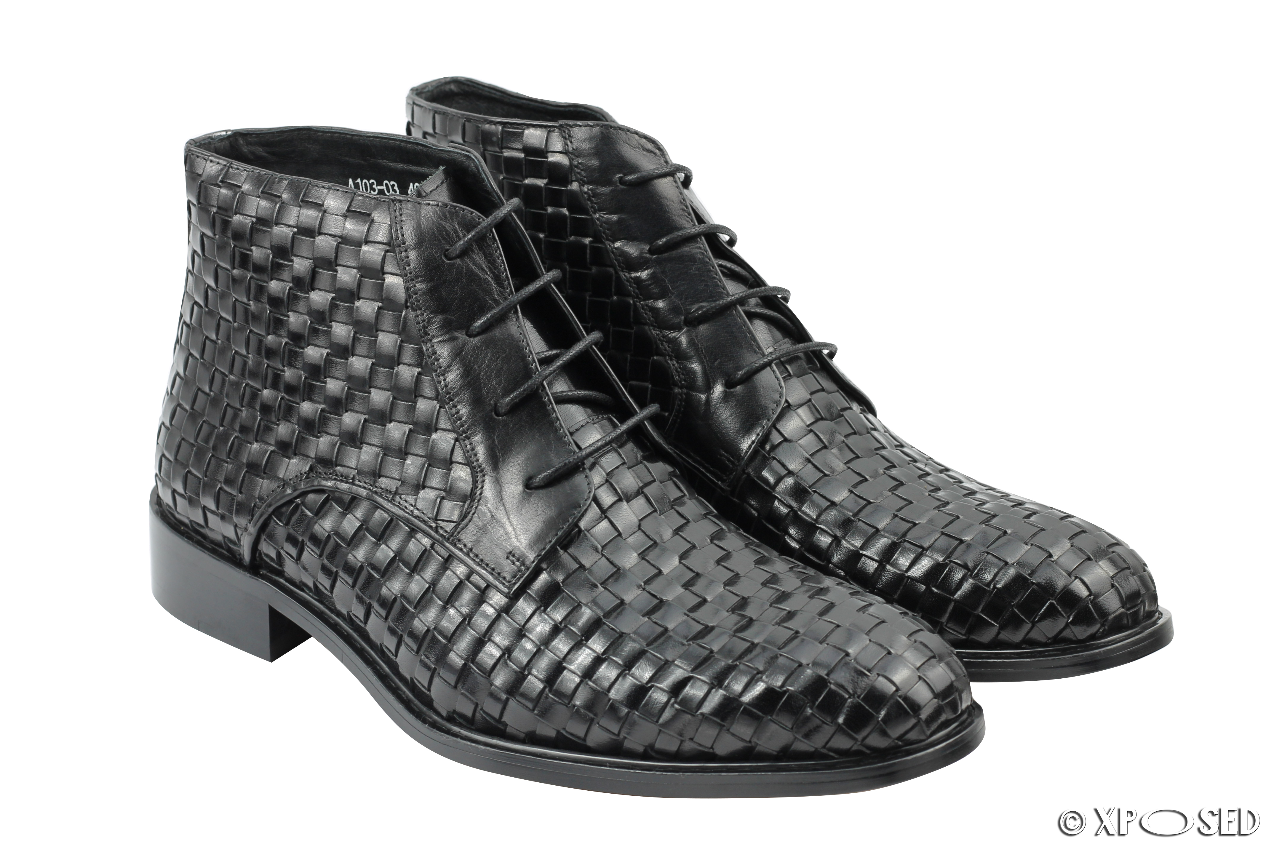 Mens Woven Lace Up Shoes