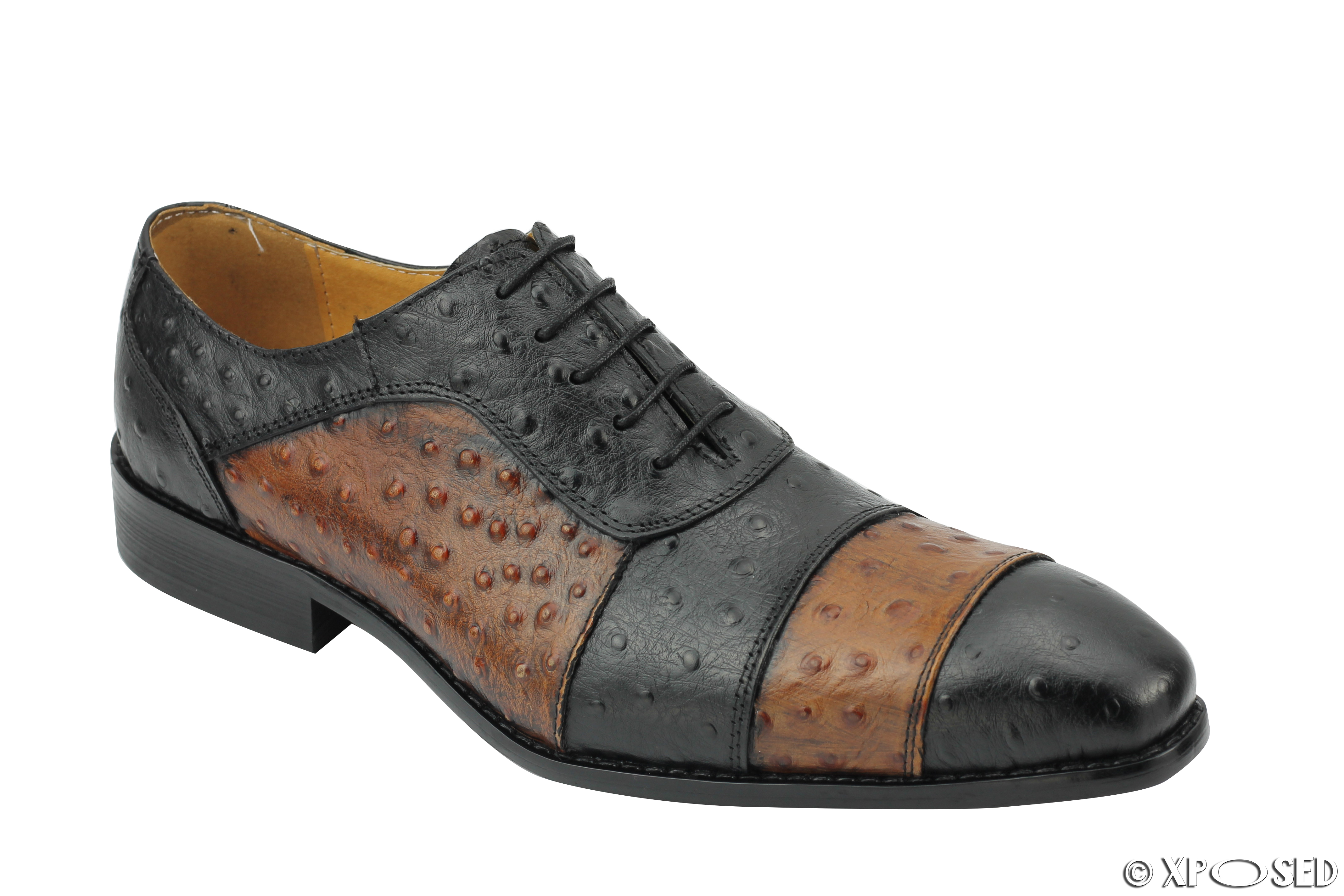 Black Ostrich Dress Shoes