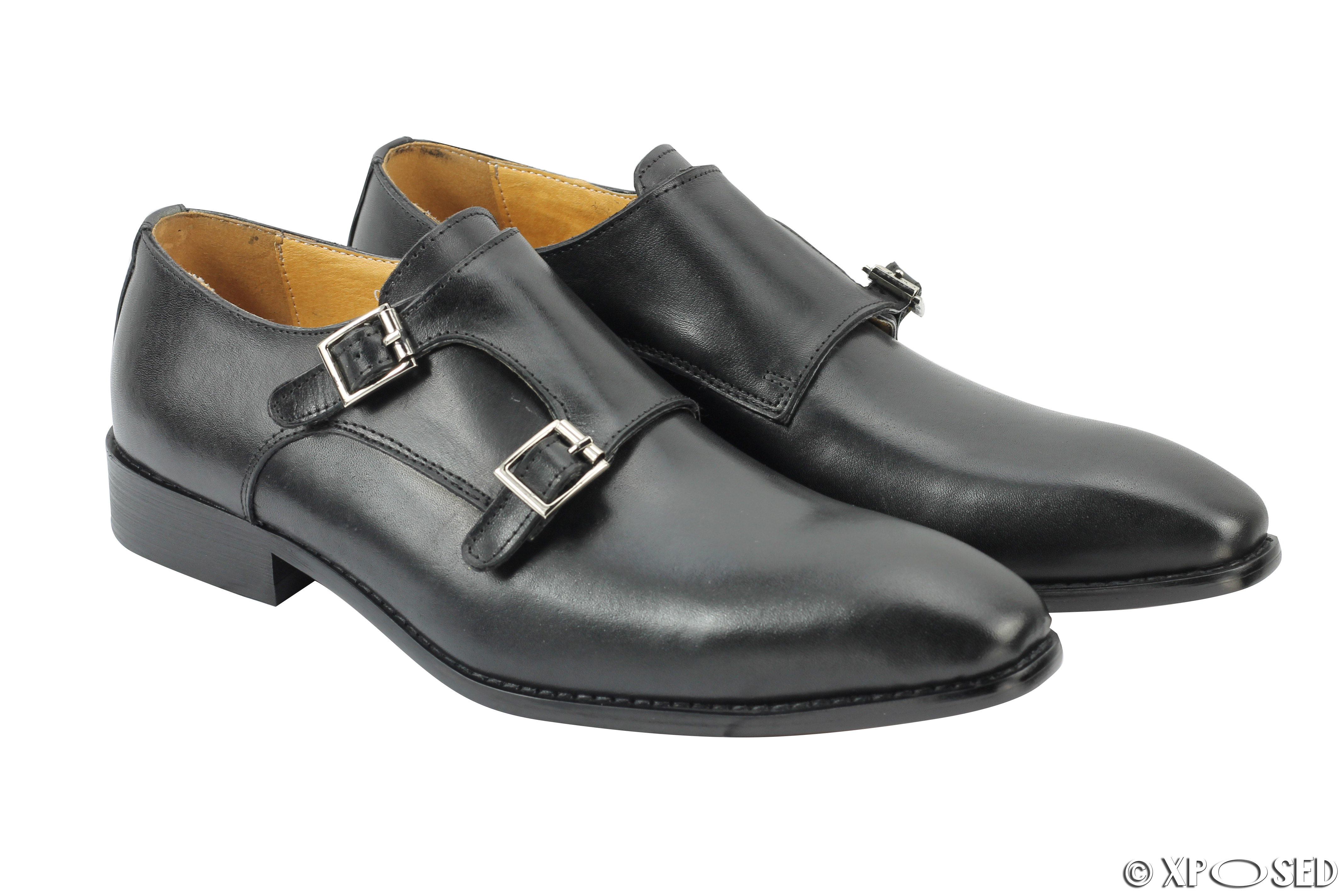 Mens Brown Leather Shoes With Buckle