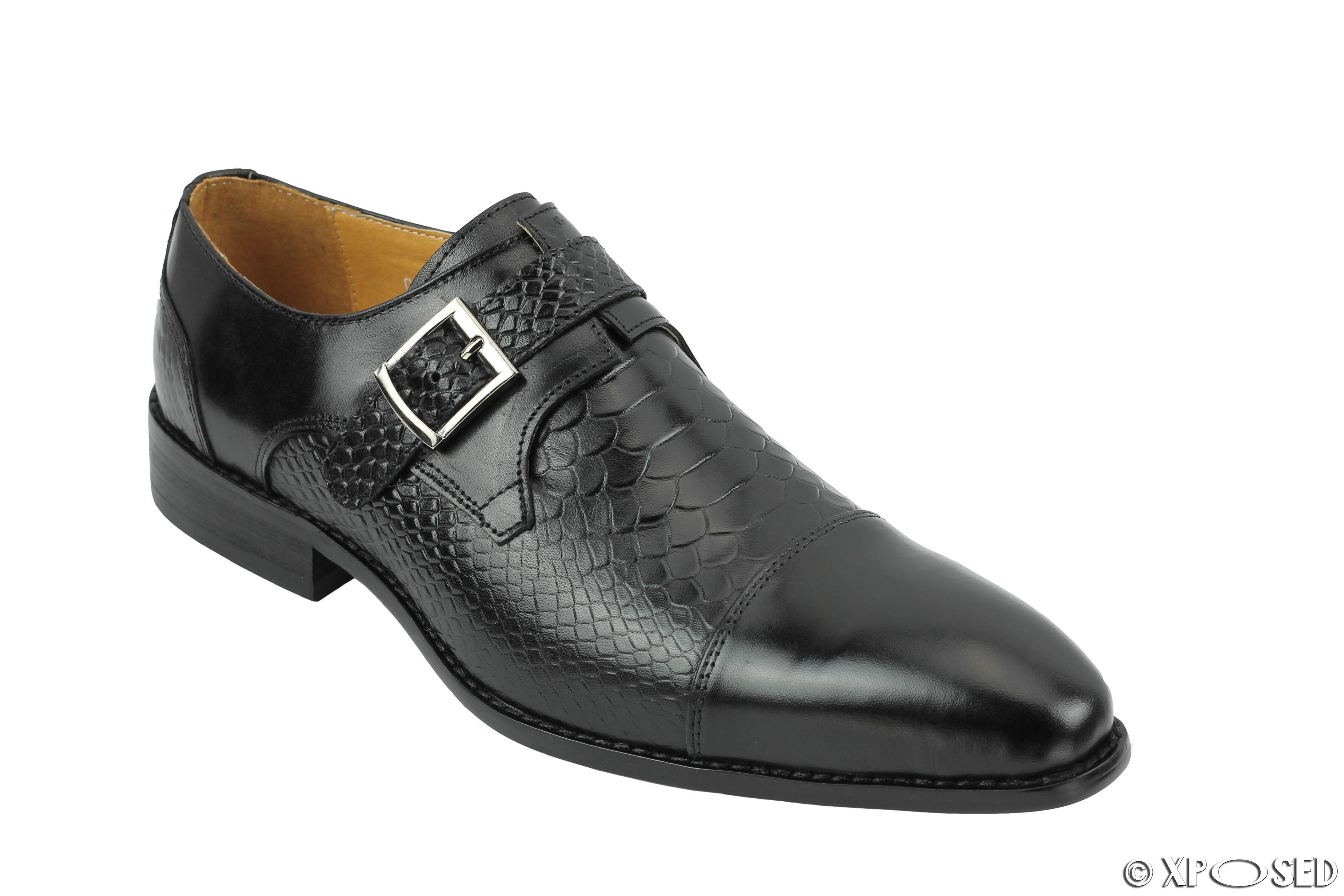Crocodile Print Mens Shoes