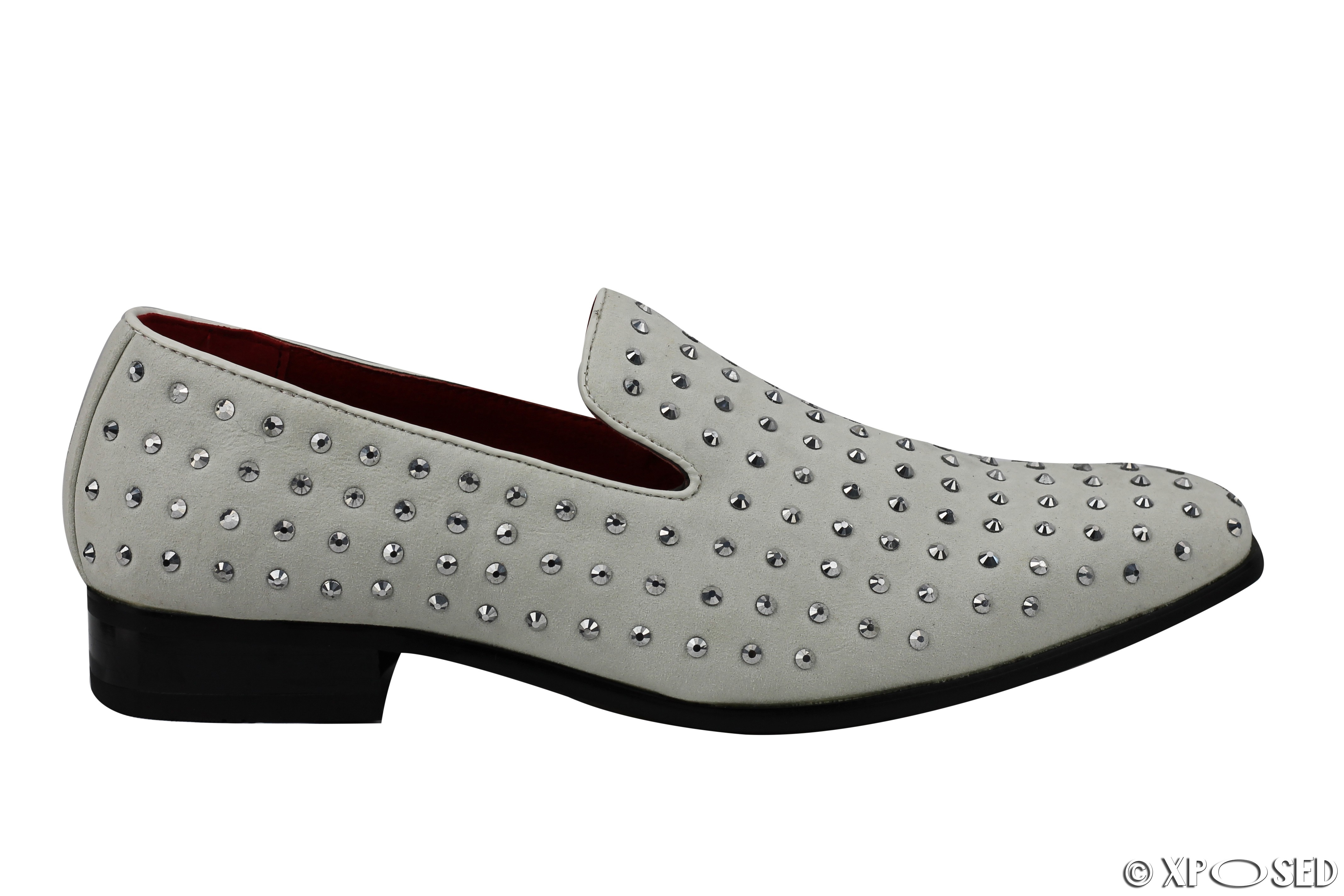 Black Studded Spiked Shoes Mens