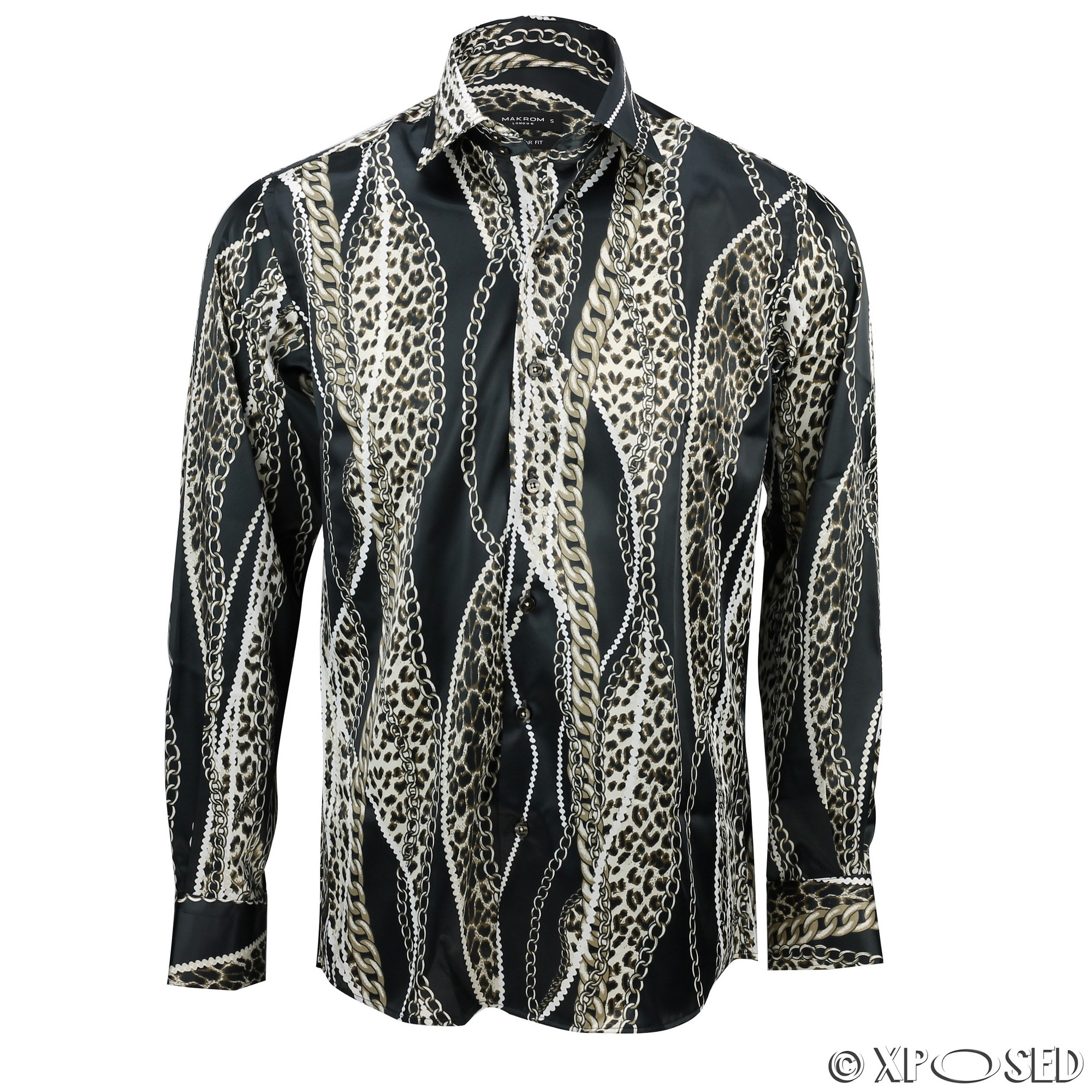 Mens italian designer style party shirt smart casual silk for Shirts made in italy