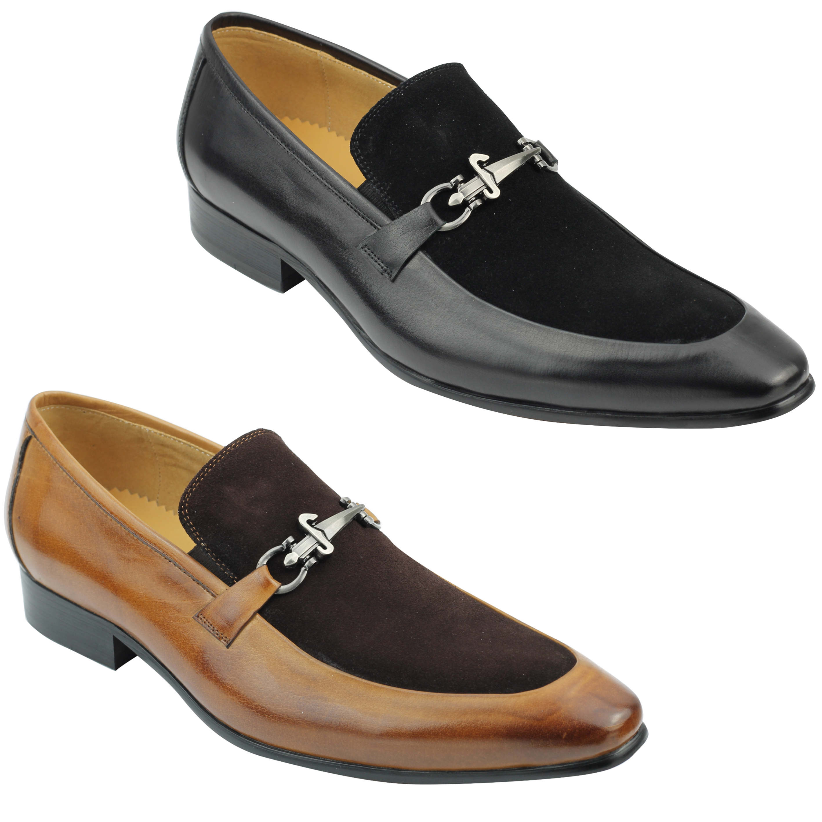 aa4de159501 Details about Mens Real Suede Leather Loafers Italian Style Smart Casual  Dress Slip on Shoes