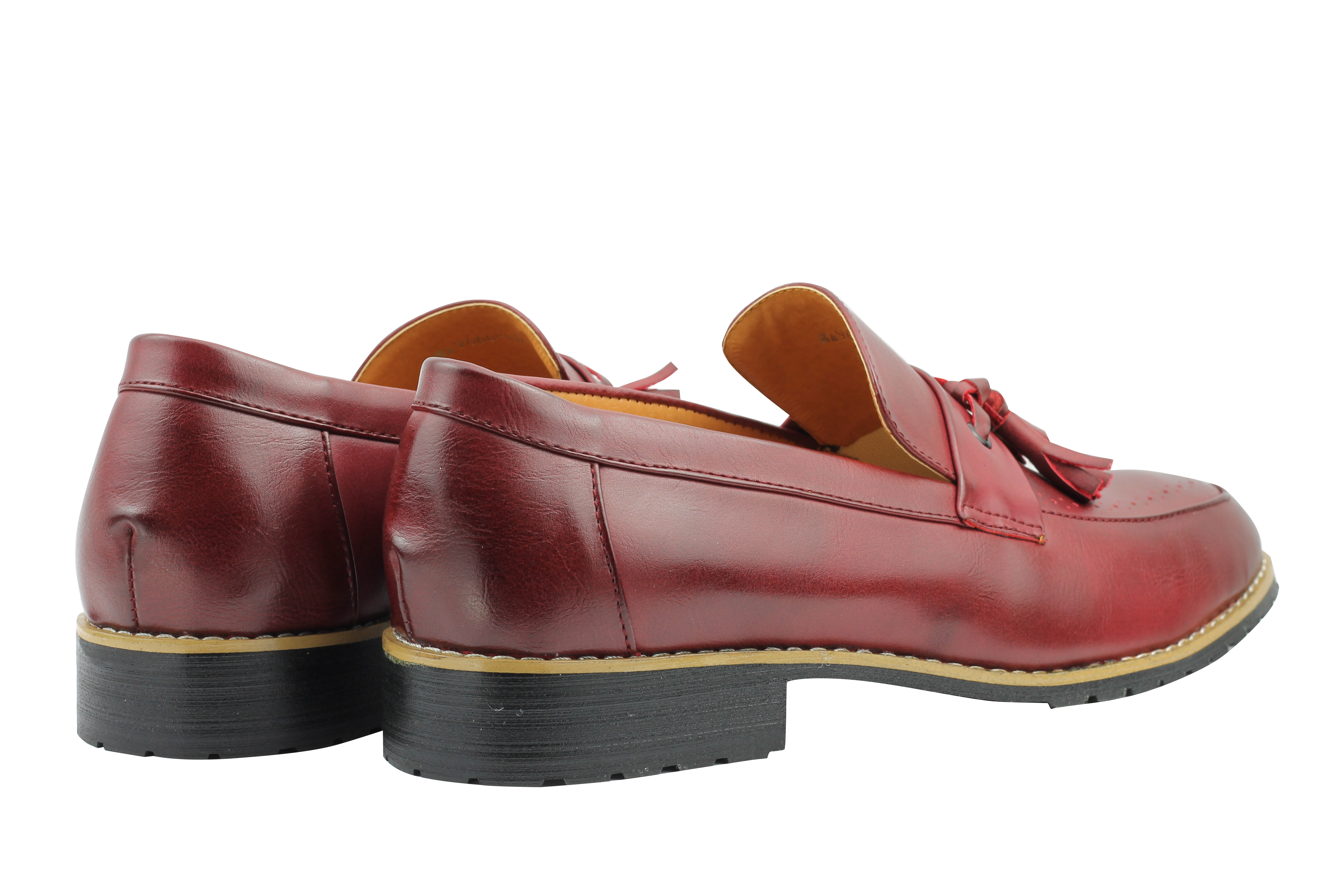 Mens-Leather-Lined-Maroon-Black-Tassel-Loafer-Smart-Casual-Slip-on-Driving-Shoes thumbnail 11