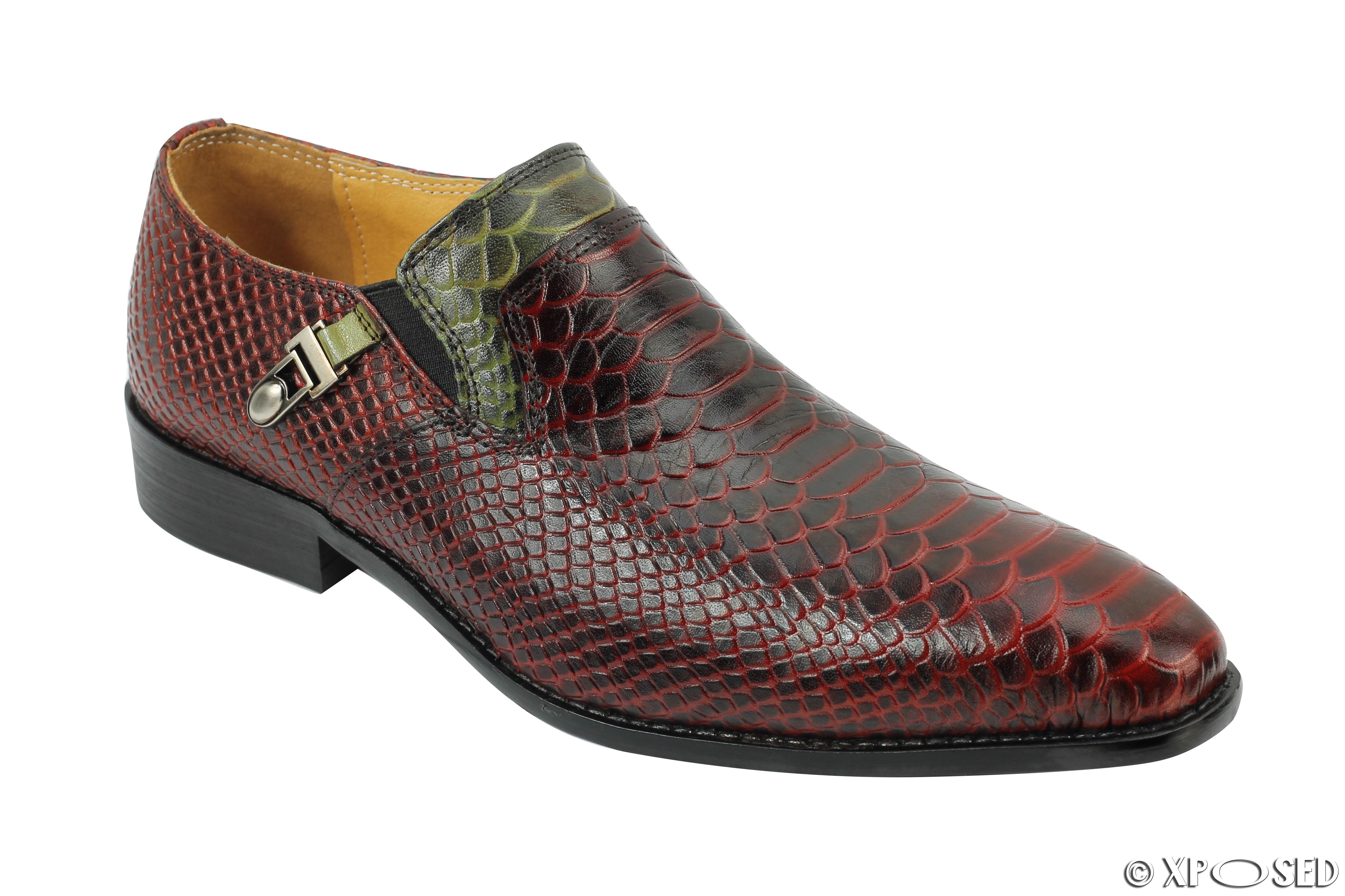 Mens Brown Snakeskin Shoes
