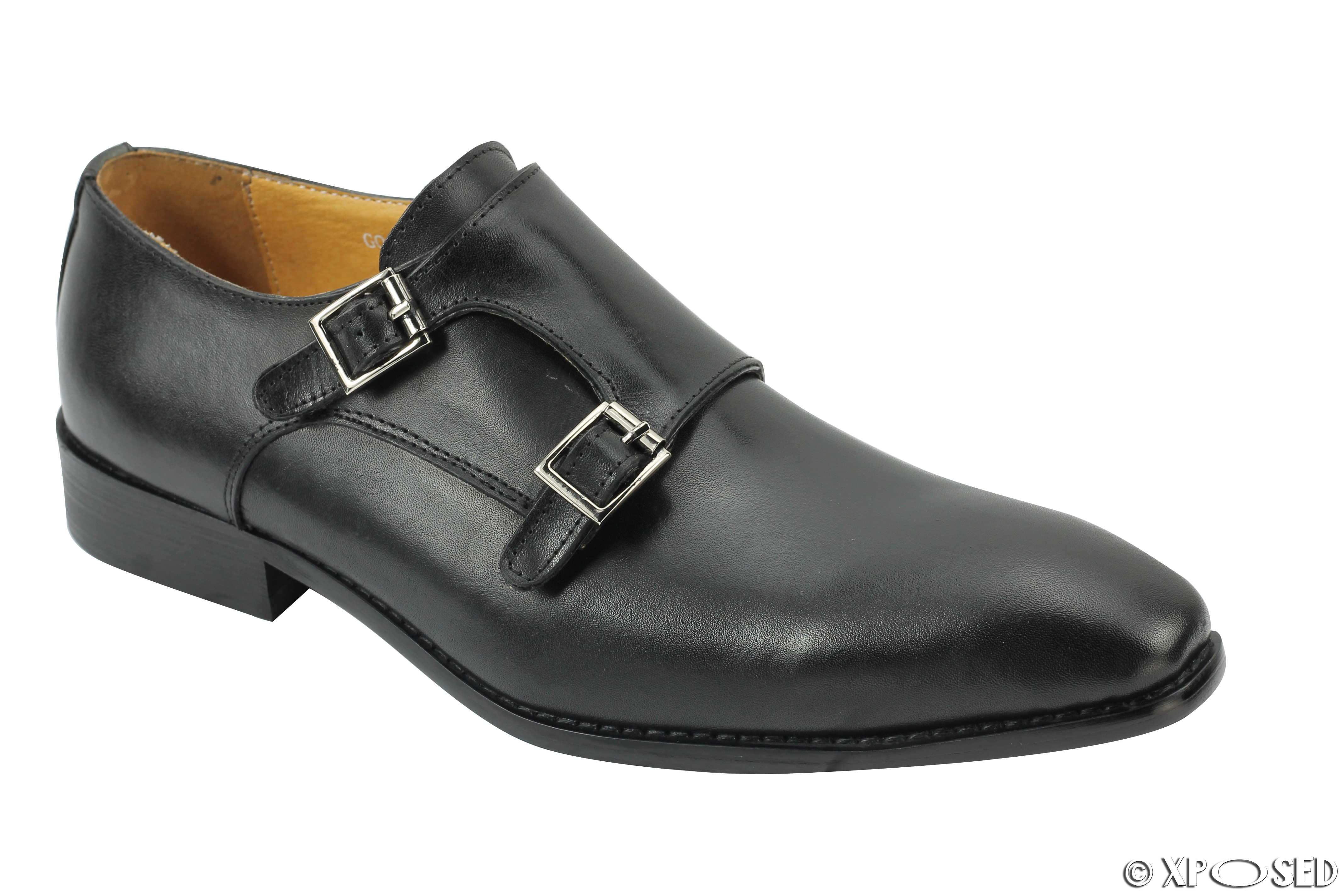 Office Mens Double Buckle Formal Shoes