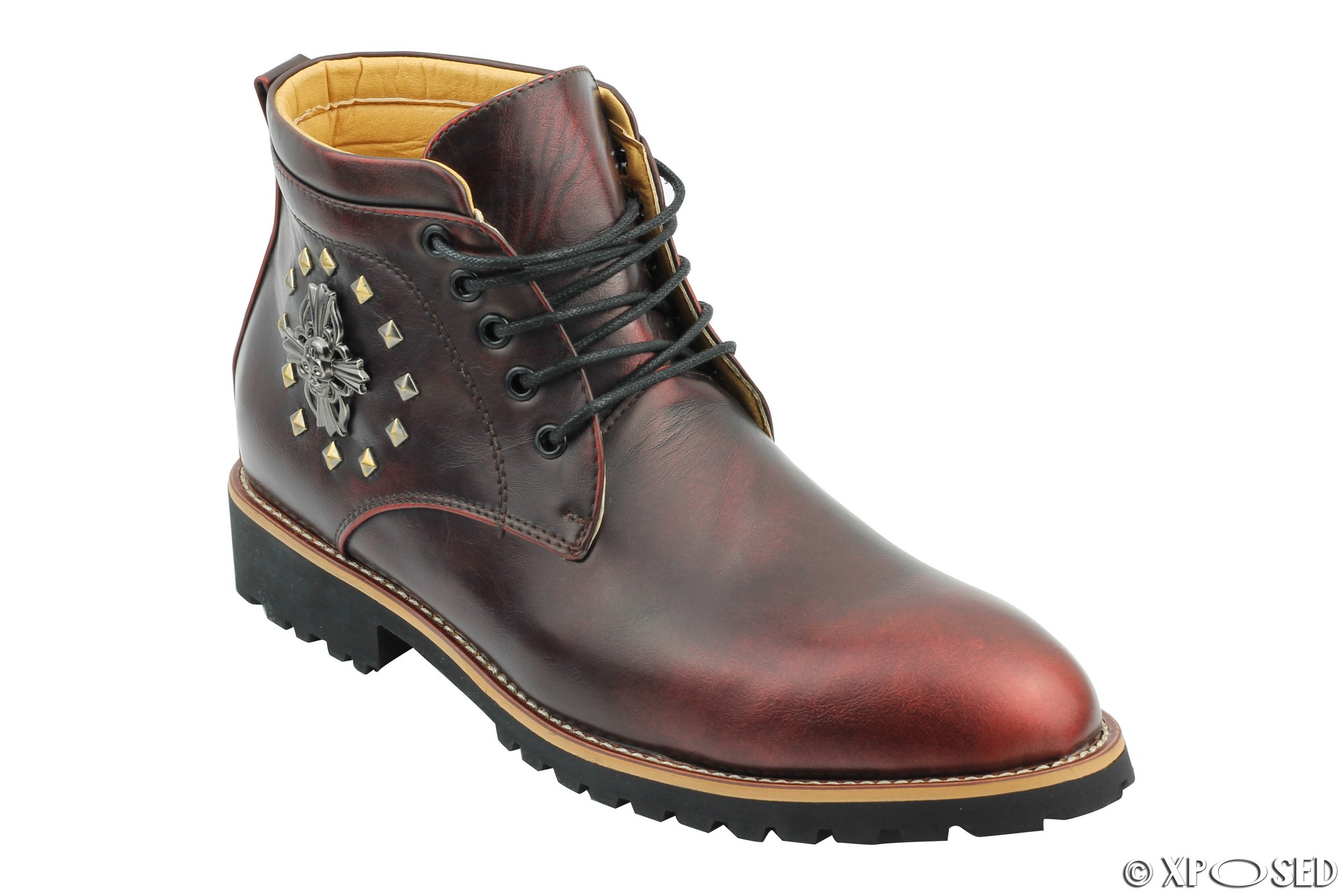 Nuevo Para hombres Cuero Sintético bootssmart Informales con Cordones Tobillo Zapatos Talla 6 7 8 9 10 11