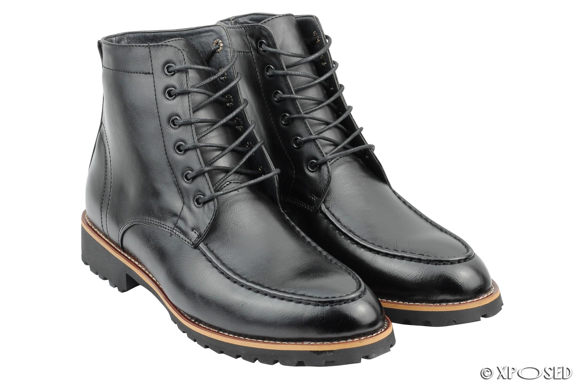 Pvc Shoes Zip Lace Up