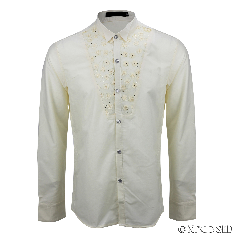 mens black cream slim fit disco 70s wedding fancy dress